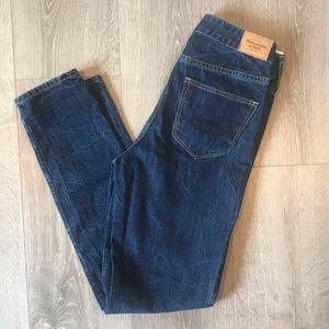 A&F High Rise Boyfriend Jeans